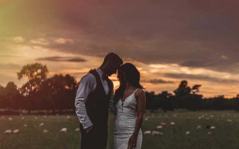 sunset wedding photography st tewdrics house