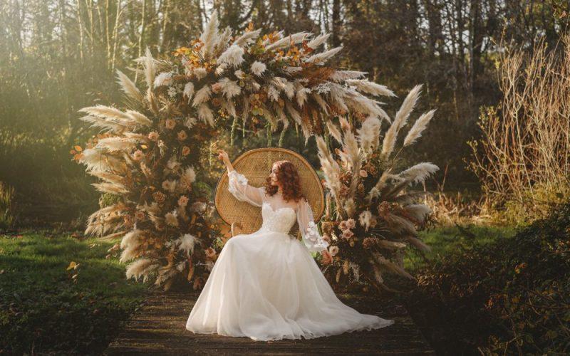 Bridal photo shoot at Fairyhill
